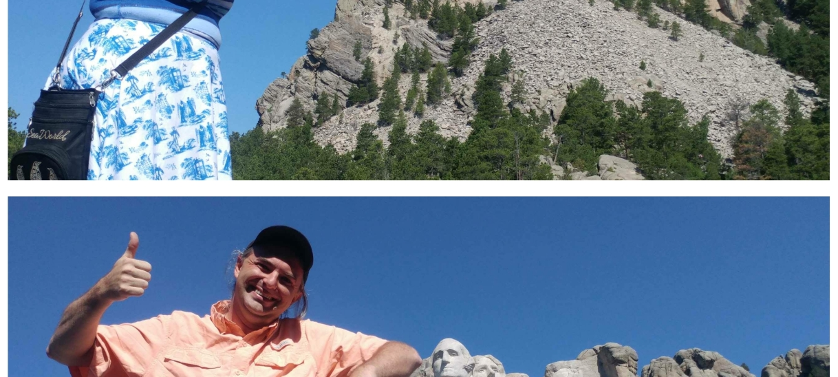Visiting Mt. Rushmore